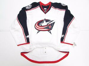 the best attitude cd745 c7dfb Details about COLUMBUS BLUE JACKETS AUTHENTIC NEW AWAY REEBOK EDGE 2.0 7287  JERSEY SIZE 58