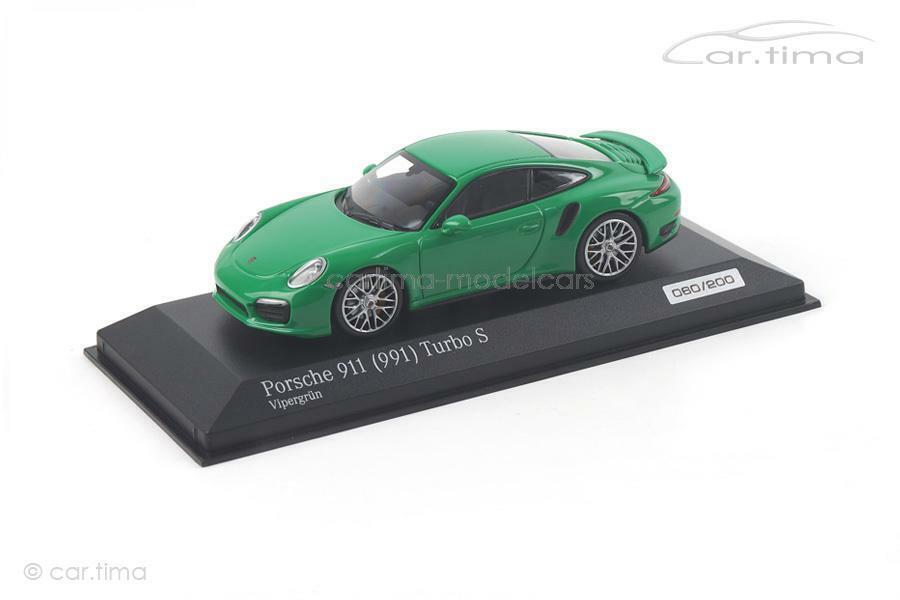 PORSCHE 911 991 Turbo SVIPER verde  1 of 200MINICHAMPSauto. tima EXCLUSI