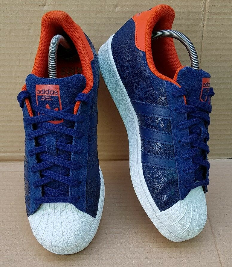 Adidas Superstar Baskets AMS Bleu Snake en pointure 7 excellent état