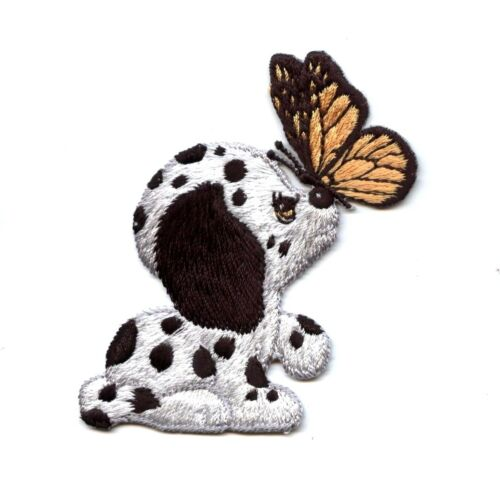 Small Dalmatian Puppy//Dog Butterfly//Pets Iron on Applique//Embroidered Patch