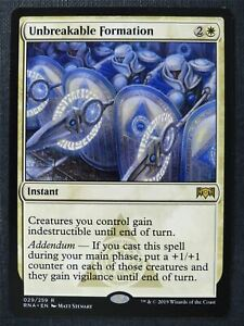Unbreakable Formation - Mtg Magic Card #WN