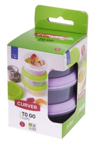 3 x Frischhaltedose Curver 80 ml Boîte de rangement frischhaltebox Vorratsdose