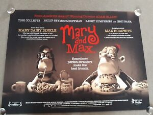 Mary And Max Original Movie Poster Original S S Uk Quad Collette Hoffman Ebay