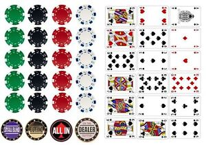 Casino Vegas Poker Table Cards And Chips Edible Icing