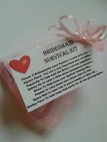 BRIDESMAID Survival Kit - Thank you Keepsake Wedding Gift Fun Novelty
