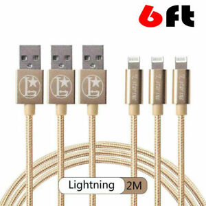 3-PACK 6FT USB Charger Cable Cord For iPhone XR X Xs MAX 11 8 7 6 6S 5 PLUS SE