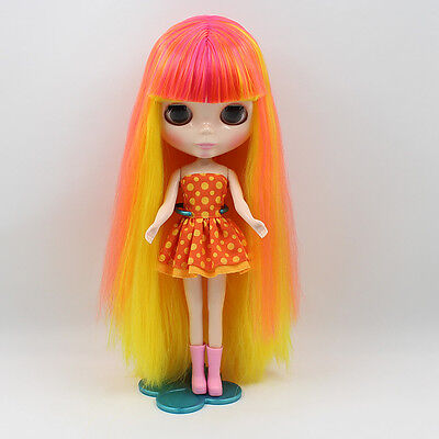 """12/"""" Neo Nude Colorful Short Hair Blythe doll From Factory JSW30003+Gift"""