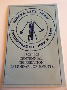 Vtg-Eureka-City-Utah-Incorporated-1892-1992-Centennial-Celebration-Event-Bookl