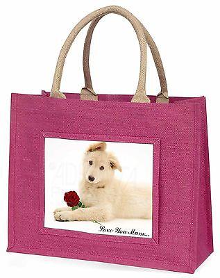 weiß Shepherd+Rose 'Liebe, die Sie Mama' Große Rosa Einkaufstasche Christus,
