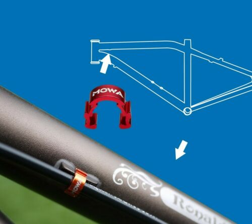 MOWA C-Clip Road Mountain CX Bicycle Bike Cable Housing Hose Guide 6pcs Blue