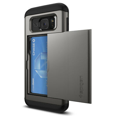 Spigen® Samsung Galaxy S7 edge [Slim Armor CS] Shockproof Case Card Wallet Cover