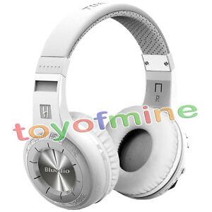 NEW-BLUEDIO-Hurricane-H-Bluetooth4-1-Wireless-Stereo-Headphones-Headsets-White