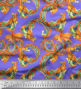 Soimoi-Fabric-Dragon-Snake-Reptile-Print-Fabric-by-Yard-RP-503G