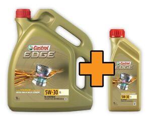 Castrol Motoröl Edge Titanium 5W-30 Long Life Aktion 5 + 1 Liter