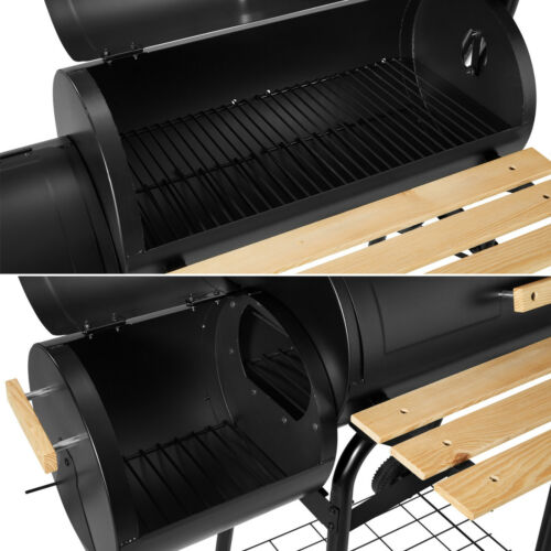 BBQ charcoal grill barbecue smoker grill cart with temperature display new