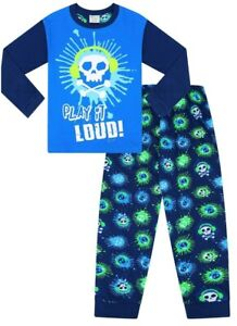 Boys Floss Dance Gaming Blue Cotton Long Pyjamas w19