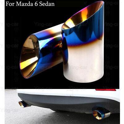 2 Blue Exhaust Muffler Tail Pipe Tip Tailpipe Emblem For Mazda 6 Sedan 2013-2019