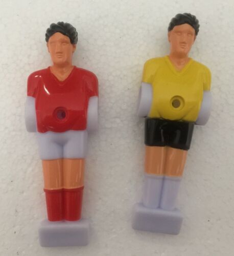 "2pcs 1//2/"" rod Foosball Soccer Table football man Player men FIGURE red//yellow"