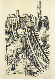 Postkarte: Beckmann - Der Eiserne Steg in Frankfurt am Main