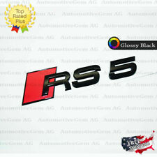 RS5 Letter Trunk Tailgate Black Glossy Emblem Rear Badge Sticker for Audi RS 5