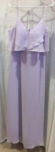AWEI Bridal Full Length Lavender Formal Dress Size