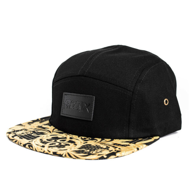 Phoenix Legendary 5-Panel Cap Hat Camp Floral Gold Black Five Casquette Baseball