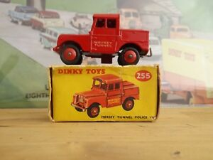 Dinky Meccano 255 Mersey Tunnel Fourgon Police Police    Land Rover Mint  original