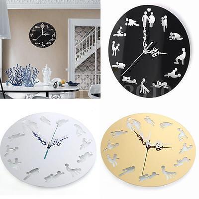 Wall Clock Fun Boudoir Home Decor Creative Modern Design Art Watch Silent Time
