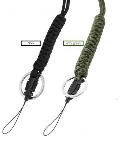 Paracord Survie Cordon 550 Cordon Serpent Tissage Custom Noir Vert Téléphone portable