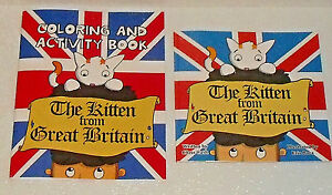 The-Kitten-From-Great-Britain-Book-AND-Coloring-Book-By-Jeremy-Kubica-NEW