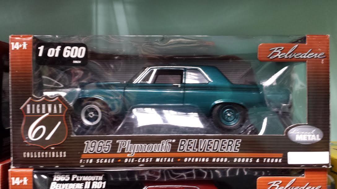 disfruta ahorrando 30-50% de descuento 1 18 Ertl 1965 Plymouth Belvedere Highway Highway Highway 61 verde Hard Top Modelo de Coche nuevo 50624  selección larga