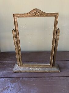 Antique-Vintage-Wood-Ornate-Art-Deco-Pedestal-Swing-Tilt-Picture-Photo-Frame
