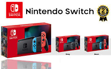 NEW NINTENDO SWITCH HANDHELD CONSOLE UK WITH IMPROVED BATTERY NEON GREY