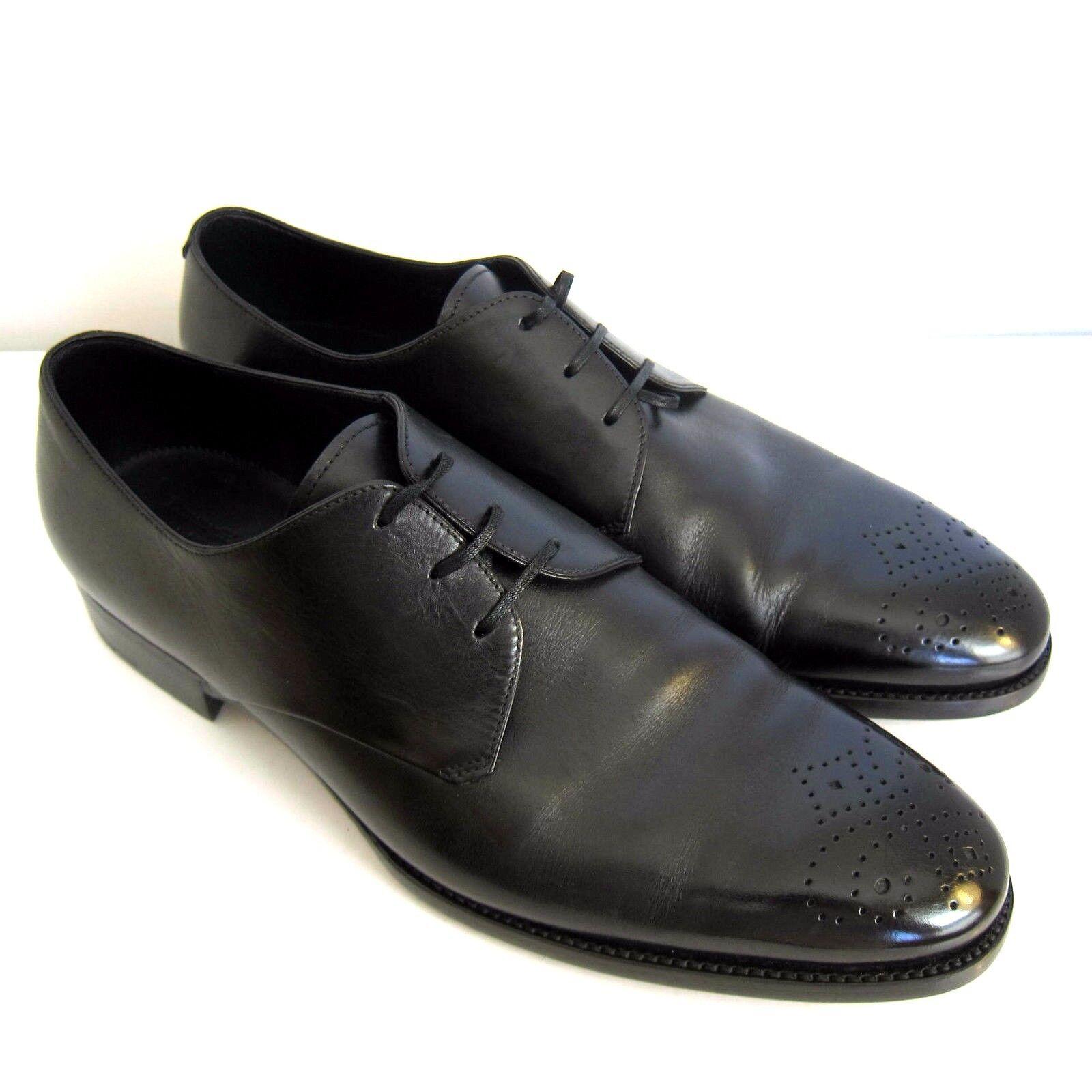C-1329259 New Ermenegildo Zegna Leather Oxford scarpe Dimensione US 11.5D Marked 10.5EE