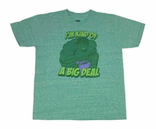 Marvel Comics Men/'s T Shirt Avengers The Incredible Hulk Im Kind Of A Big Deal