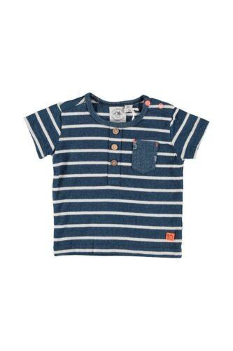 ♥ LITTLE BAMPIDANO ♥ Baby Jungen Boys T-Shirt blau Gr.62-86 Biobaumwolle ♥