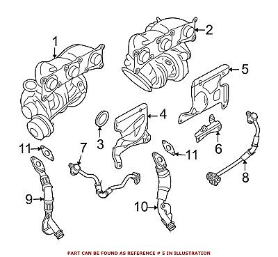 For BMW Genuine Exhaust Heat Shield Front 11797558904