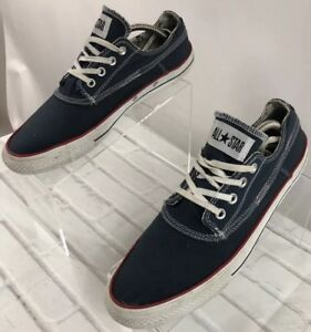 67037bec45e2 Unisex Converse All Star Two Tone Denim Red Low Top Sneakers Men s ...