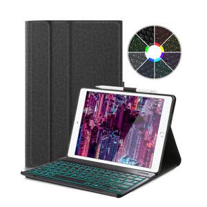 QWERTZ-Fuer-iPad-7th-Gen-2019-10-2-DEUTSCHE-Tastatur-Beleuchtet-Schutzhuelle-Case