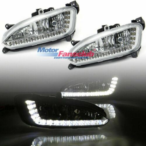 Pair LED Daytime Running Light For Hyundai IX45 Santa Fe 2013 2014 DRL Fog Lamp
