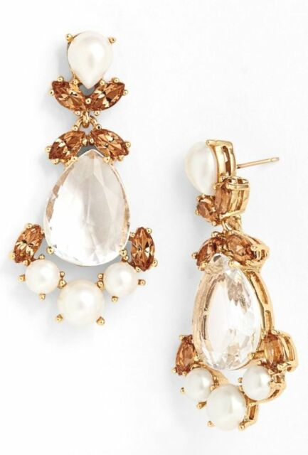 Kate Spade New York  Gold Crystal Drop Earrings 0350