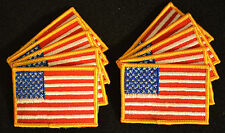 """B7242  10 US FLAG PATCHES  2"""" x 3""""  FREE SHIPPING !  WHOLESALE LOT SET"""