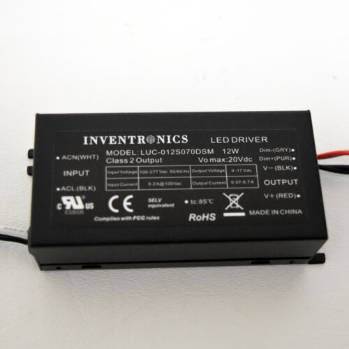 Inventronics LUC-012S070DSM LED Driver 100~277 Vac 50//60 Hz 12W New