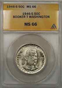 1946 booker t washington half dollar mint mark