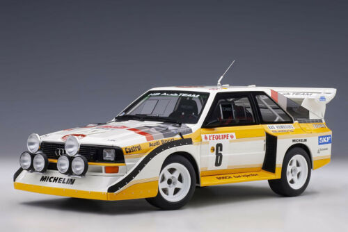 AutoArt Audi Quattro S1 #6 Mikkola//Hertz Rally Monte Carlo 1986 1//18