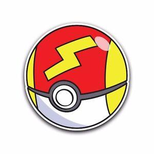 fast poke ball pokemon go decal sticker vinyl car macbook waterproof