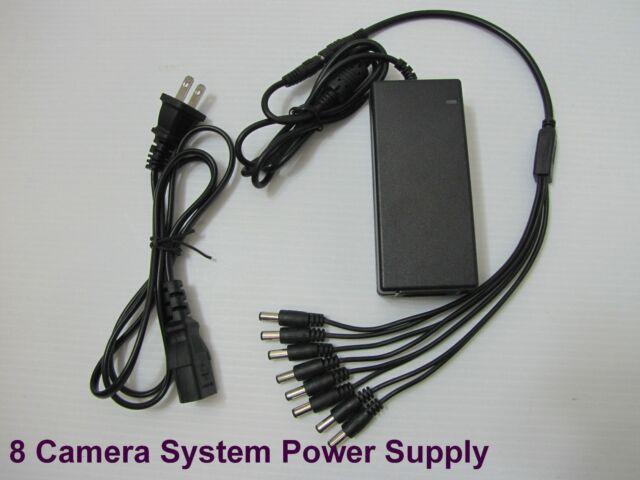 DC 12VDC 8A Power Supply Adapter CCTV Security Camera DVR + 8 Split Zmodo,Q-See