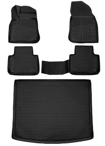 Kofferraumwanne für VW Touareg III  2018-5-teil SET 3D Passgenaue  Fußmatten