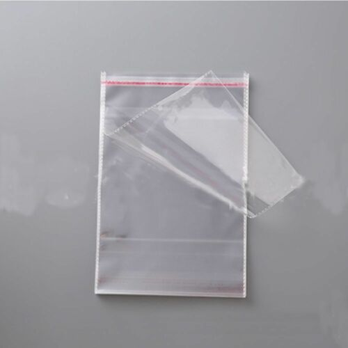 """Details about  /100 Pcs 8cmx12cm Self Adhesive Plastic Bag Clear Jewelry Packaging 3.1/""""x4.7/"""""""