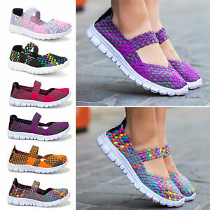 CHIC-Women-Lady-Slip-On-Elastic-Flat-Shoes-Summer-Breathable-Casual-Sandals-New